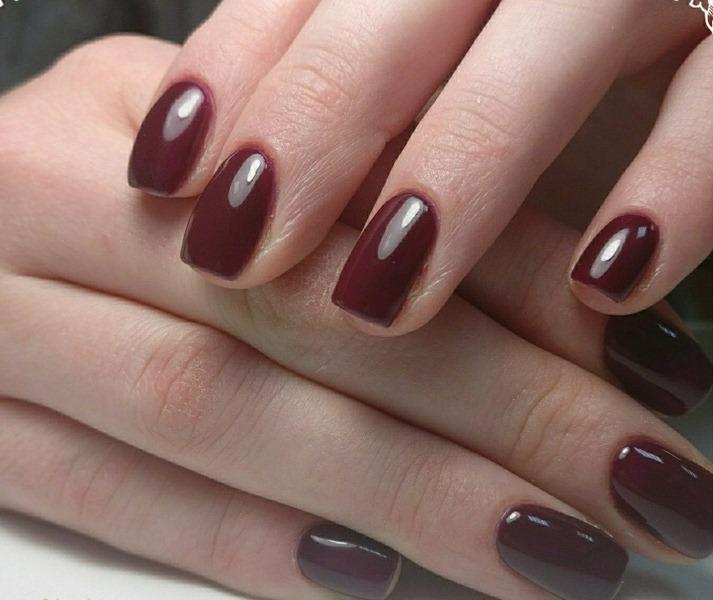 Миндальные Черные Ногти Дизайн